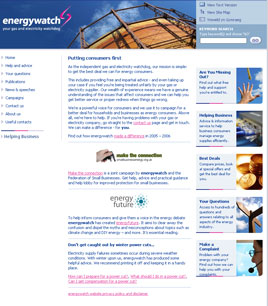 Energywatch Home Page